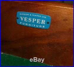 Rare Vintage Retro MID Century Walnut Teak Heals Gimson Slater Vesper Sideboard
