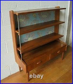 Rare Vintage Retro Teak MID Century Bookcase Wall Unit Room Divider