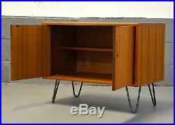 Retro Mid Century G Plan Scandinavian TV Media Unit Cabinet Hairpin Legs