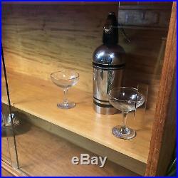 Retro Mid Century Gordon Russell Bookcase Display Case Cocktail Cabinet Vintage