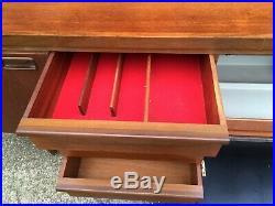 Retro Vintage 1960s Mid Century teak sideboard cupboard drawers drinks cabinet
