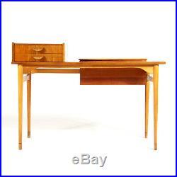 Retro Vintage Danish Teak & Oak Dressing Table Desk Dresser Mid Century 60s 70s