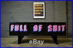 SOLD Vintage Mid Century Sideboard Painted COMMISSIONS AVAILABLE