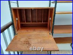STUNNING Ladderax Heal Staples teak shelving bureau vintage retro mid century