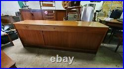Scandinavian teak Long Sideboard Mid Century Vintage mcm retro made in denmark