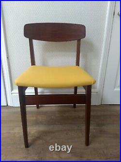 Set Of 4 Vintage Retro MID Century MCM Danish Style Teak Dining Chairs