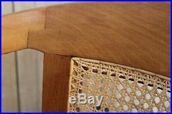 Solid Cherry And Rattan Heals Chair Mid-century Design Bedroom Armchair Retro