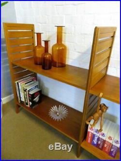 Staples Ladderax Mid Century Retro Vintage 60s Teak Shelving System Unit