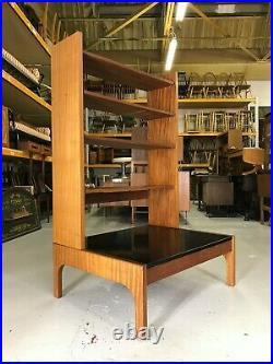 Stunning Mid Century Room Divider Vintage Retro Bookcase Danish Shelf Book Bench