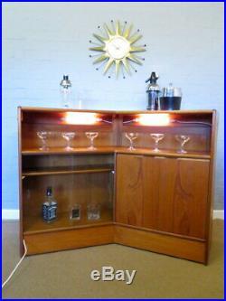 TURNIDGE of LONDON Mid Century Vintage 60s 70s Teak Cocktail Drinks Bar Cabinet