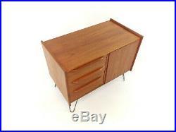 Teak Cabinet / Small Sideboard Mid Century Vintage Retro + Hairpin Legs