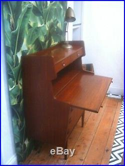 Top Danish Bureau Cabinet Desk Mid Century Vintage Retro Restored / Delivery