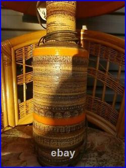 VINTAGE RETRO MADE IN ITALY BITOSSI ceramic base LAMP 1960's Mid Century RARE