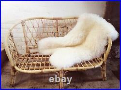 Vintage 60's Bamboo 2 Seater Sofa Chair Loveseat Mid-Century Retro Cane Tiki