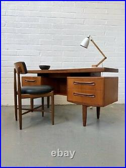 Vintage 60s G Plan Fresco Teak Floating Top Desk. Danish Retro Mid Century