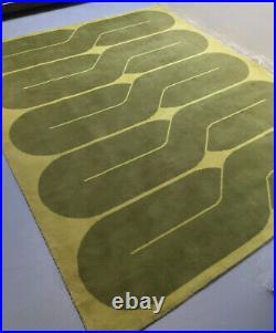 Vintage 60s MCM Retro Geometric Carpet Rug Panton Pop Art Mid Century 6.5 x 5.5