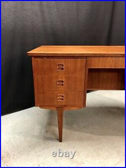 Vintage Danish Teak Desk. Retro Mid Century MCM