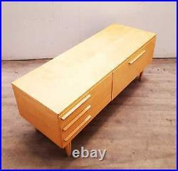Vintage G Plan Style Mid Century Blond Teak Compact Retro Sideboard #258