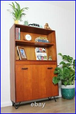 Vintage G plan Bookcase Teak Shelving Display cabinet Hairpin legs Mid Century