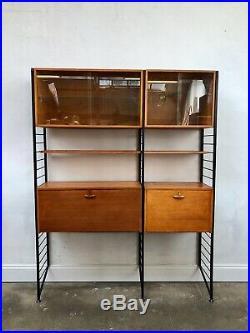 Vintage Ladderax Teak Shelving Bookcase Desk. Danish Retro. Mid Century DELIVERY