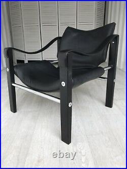 Vintage Maurice Burke Arkana Leather Chair Retro Mid Century