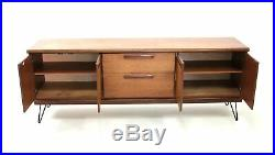 Vintage Mid Century 1970s Meredew Teak Danish Influence Sideboard & Hairpin Legs