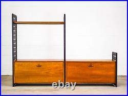 Vintage Mid Century Danish Style Sectional Bookcase Display ladderax