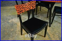 Vintage Mid Century G Plan Dining Table & Chairs Painted Neon Memphis Style 80's
