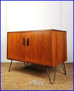 Vintage Mid Century G-Plan Fresco Retro Mid Century Teak Hairpin Leg Sideboard