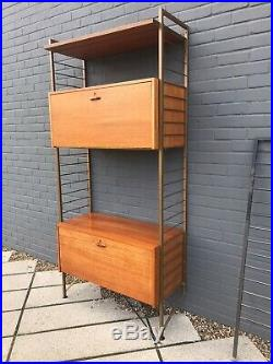 Vintage Mid Century Ladderax 1 Bay Shelving Unit