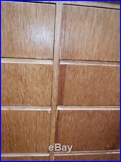 Vintage Mid Century Oak Meredew Sideboard/ Drawers (12R)