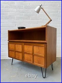 Vintage Nathan Hairpin Teak Sideboard. Retro. Danish. Mid Century. G Plan. Circles