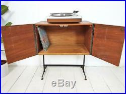 Vintage Record Cabinet MID Century Danish Influence Retro