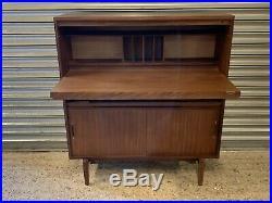 Vintage Retro 1960s Mid Century Beaver & Tapley Teak Bureau Desk