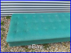Vintage Retro Danish mid century 50s 60s turquoise wool day bed Sofa couch