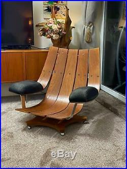 Vintage Retro G Plan Housemaster Swivel chair Teak mid century rocker armchair