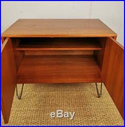 Vintage Retro G-Plan Mid Century Small Teak Sideboard Cabinet on Hairpin Legs