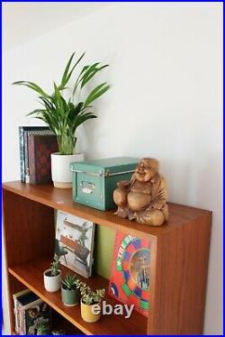 Vintage Retro G plan Bookcase Shelving Hairpin legs Mid Century Skandi Teak
