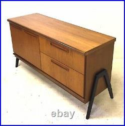 Vintage Retro Mid Century Danish 1960s Teak Modernist Sideboard LP Cabinet