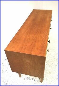 Vintage Retro Mid Century Danish Era 1960s Light Teak Compact Sideboard Cabinet