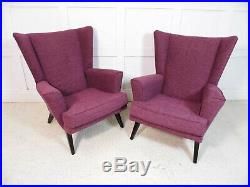 Vintage Retro Mid Century G Plan E Gomme 50s Iconic Wingback fabric Armchairs