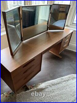 Vintage Retro Mid Century Teak Dressing Table Desk by Austin Suite Home Office