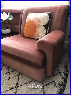 Vintage / Retro Modular Sofa, 1970's, Mid Century Salmon Pink