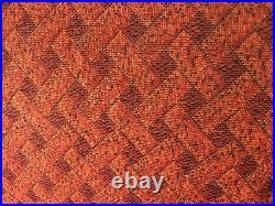 Vintage Retro Sofa Day Bed Patterned Orange Red German 1960s Mid-century