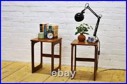 Vintage bedside table side table set of2 McIntosh teak mid century danish design
