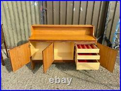 Vintage mid century retro teak danish credenza sideboard cabinet unit Delivery