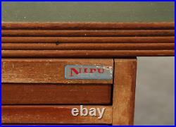 Vintage retro Mid Century Danish NIPU wooden office work desk 60s 70s drawers