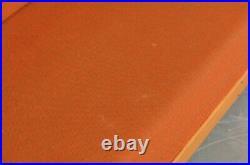 Vintage retro mid century Danish Swedish 60s 70s sofa bed oak wood orange wool