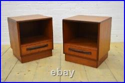 Vintage teak bedside cabinets PAIR G Plan Fresco danish mid century UKDELIVER