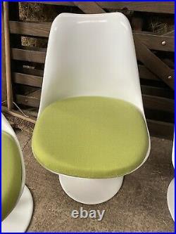 Vtg Mid Century Rudi Bonzanini 4 Tulip Dining Chairs Space Age Retro